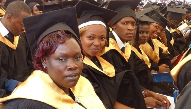 UoK Graduands during a past graduation ceremony