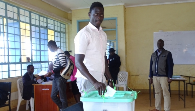 University of kabianga innovation and excellence mr onyango bevon a third year student casting his vote mr onyango is also mr uok 2018 fandeluxe Gallery