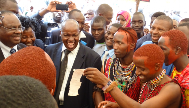 UoK Vice-Chancellor having fun with students during cultural week