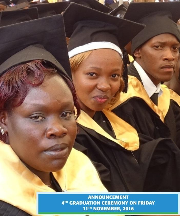 Welcome to the fourth UoK Graduation Ceremony