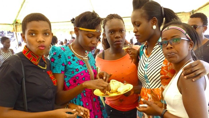 Students share a sumptuous meal