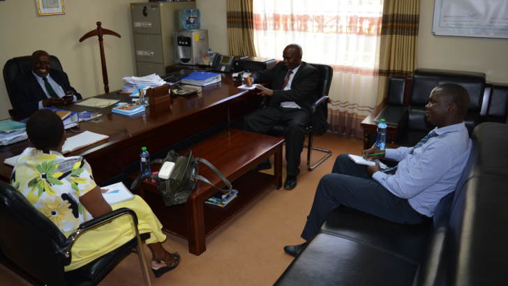 Officials from HELB visiting UoK VC, Prof. W. Kipngeno