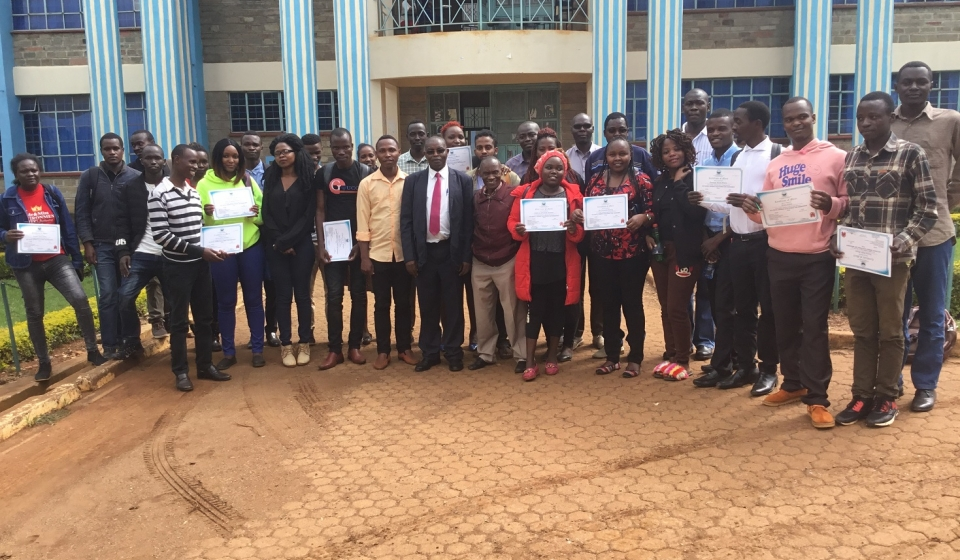 Participants of the Geospatial Database Development and Management Training